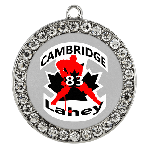 Image of teelaunch Necklaces - Troupe #83 Lahey Cambridge Hockey Stone Coin Necklace