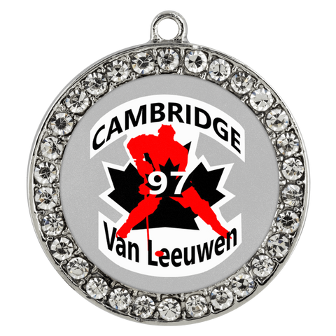 teelaunch Necklaces - Troupe #97 Van Leeuwen Cambridge Hockey Stone Coin Necklace