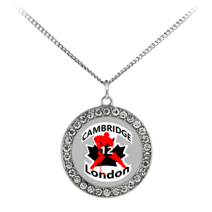 "teelaunch Necklaces - Troupe Necklace - Stone Coin / 16"" #12 London Cambridge Stone Coin Necklace"