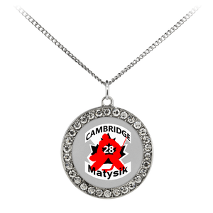 "teelaunch Necklaces - Troupe Necklace - Stone Coin / 16"" #28 Matysik Cambridge Hockey Stone Coin Necklace"