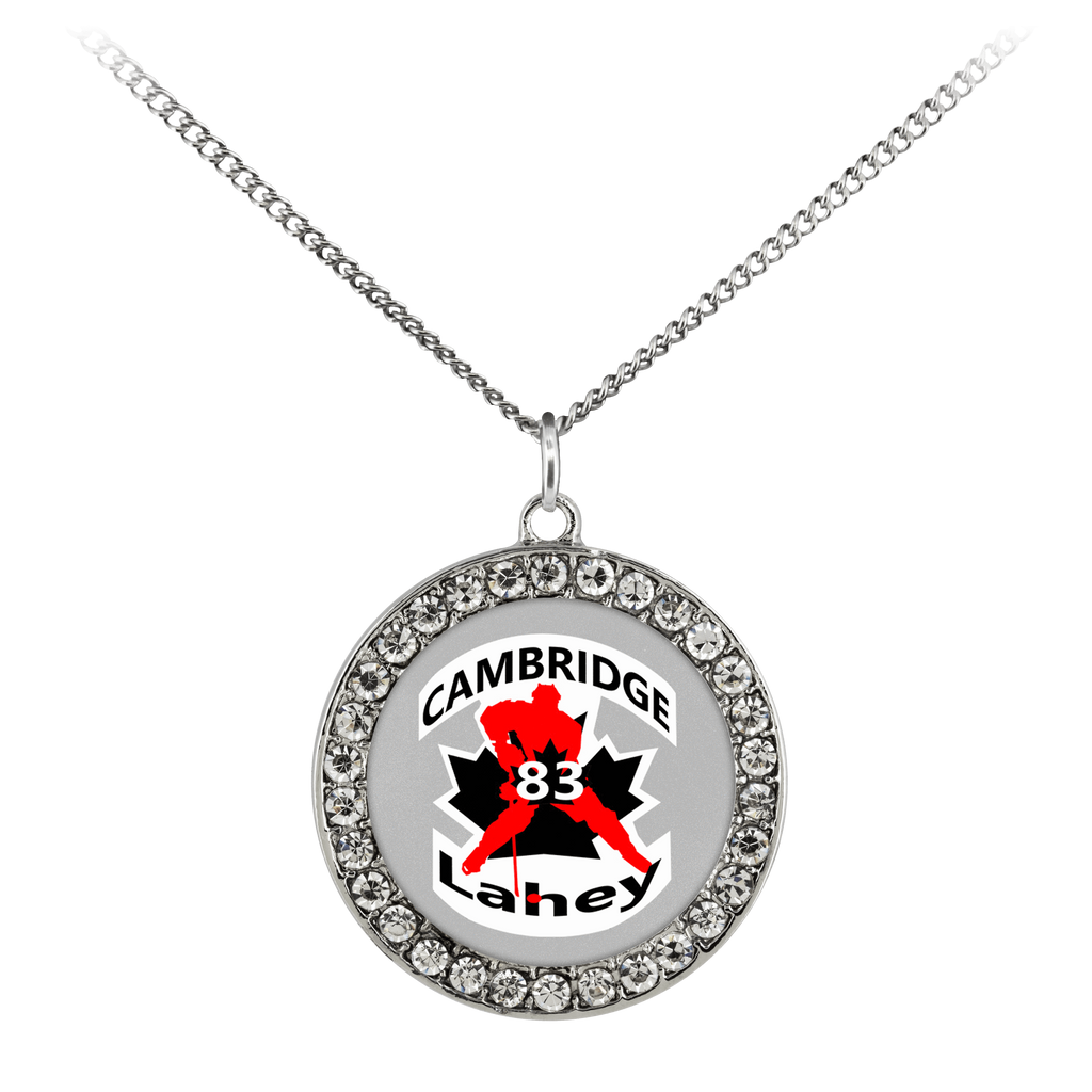 "teelaunch Necklaces - Troupe Necklace - Stone Coin / 16"" #83 Lahey Cambridge Hockey Stone Coin Necklace"