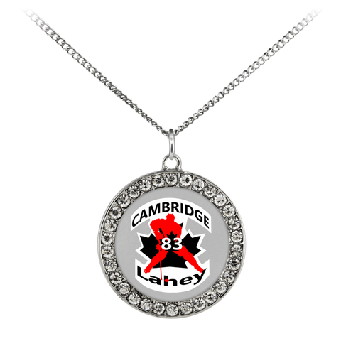 "Image of teelaunch Necklaces - Troupe Necklace - Stone Coin / 16"" #83 Lahey Cambridge Hockey Stone Coin Necklace"