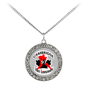 "teelaunch Necklaces - Troupe Necklace - Stone Coin / 16"" #97 Van Leeuwen Cambridge Hockey Stone Coin Necklace"