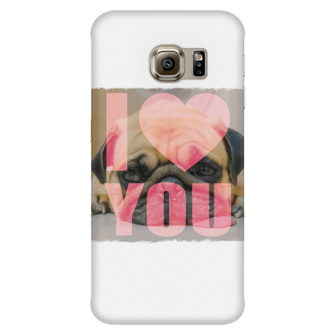 Image of teelaunch Phone Cases Galaxy S6 Edge Pug Loves You Phone Case