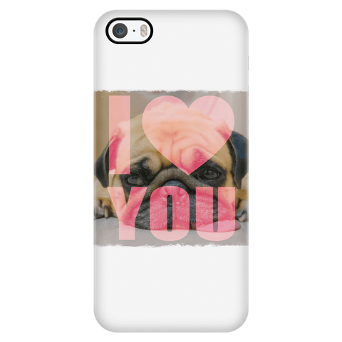 teelaunch Phone Cases iPhone 5/5s Pug Loves You Phone Case