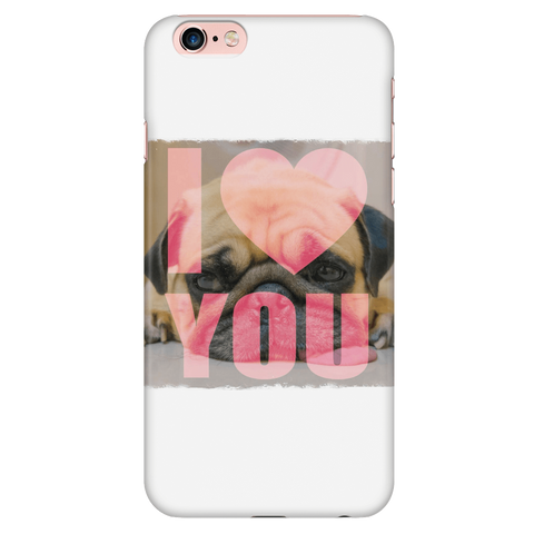 teelaunch Phone Cases iPhone 6 Plus/6s Plus Pug Loves You Phone Case