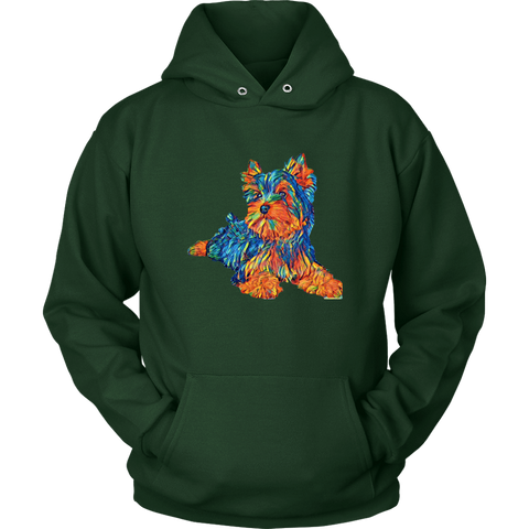 Image of teelaunch T-shirt Unisex Hoodie / Dark Green / S Multi - Color Shih tzu Hoodie