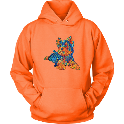 Image of teelaunch T-shirt Unisex Hoodie / Neon Orange / S Multi - Color Shih tzu Hoodie