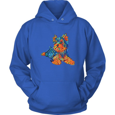 Image of teelaunch T-shirt Unisex Hoodie / Royal Blue / S Multi - Color Shih tzu Hoodie