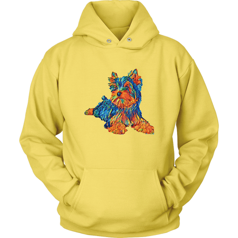 Image of teelaunch T-shirt Unisex Hoodie / Yellow / S Multi - Color Shih tzu Hoodie