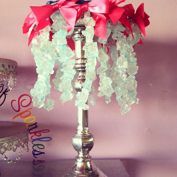 Rock Candy Chandelier Centerpiece