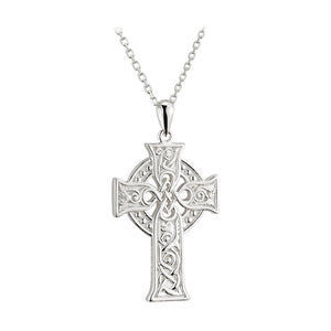 SMALL APOSTLES CELTIC CROSS PENDANT STERLING SILVER S44604.