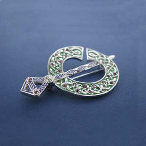 Brooch Silver plated Celtic Design