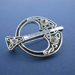 Brooch Silver plated Tara Design