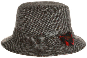 Walking Hat Donegal Tweed Grey Salt n Pepper.
