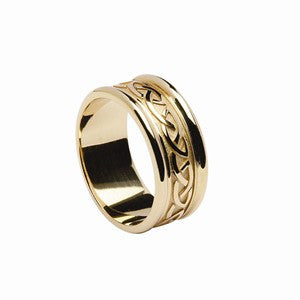 Celtic Knot Gents Wedding Band 14ct Gold