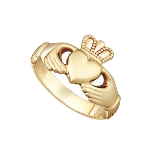18ct Gold Claddagh Ring Solid .