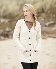 Aran Cardigan Tree of Life design