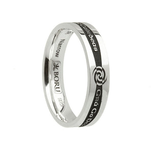 Irish Siorai Promise Ring - Narrow