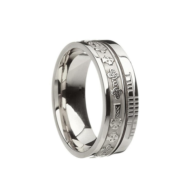 Celtic Cross Wedding Band