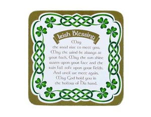 Irish Blessing Celtic Coaster