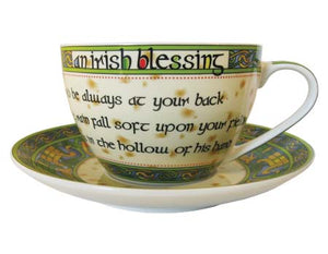 Irish Blessing Tea Cup and Saucer