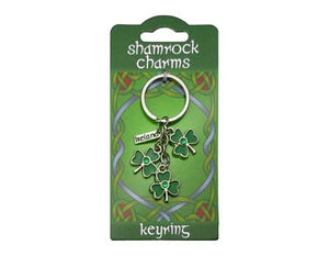 Charm Keyring Three Shamrocks