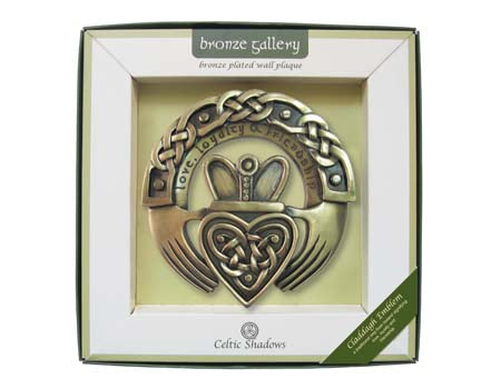Claddagh Ring Bronze Plaque.