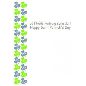 St Patricks Day Shamrock Card