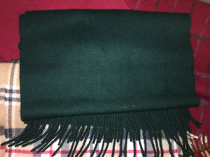 Scarf 30% Cashmere 70% Wool (dark green)
