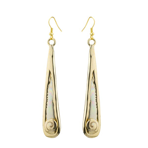 Two Toned Silver Spiral Drop Earrings by Grange Celtic Jewellery.