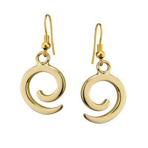 Gold Spiral Earrings by Grange Celtic Jewellery.