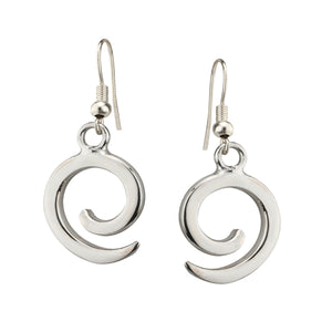 Silver Spiral Earrings By Grange Celtic Jewellery.
