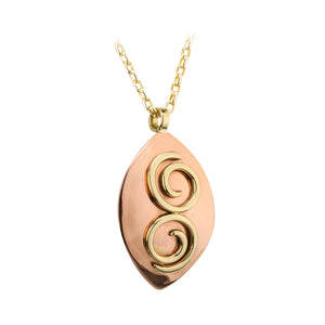 Two Tone Copper Spiral Pendant by Grange Jewellery