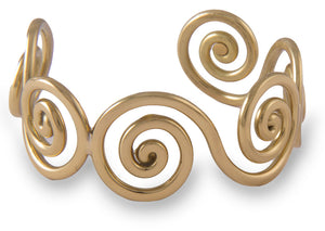 Celtic Spiral Gold Tone Bangle by Grange Jewellery.