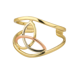Tri Colour Trinity Knot Bangle by Grange Celtic Jewellery.