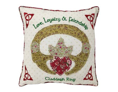 Claddagh Ring 10 inch Pillow.
