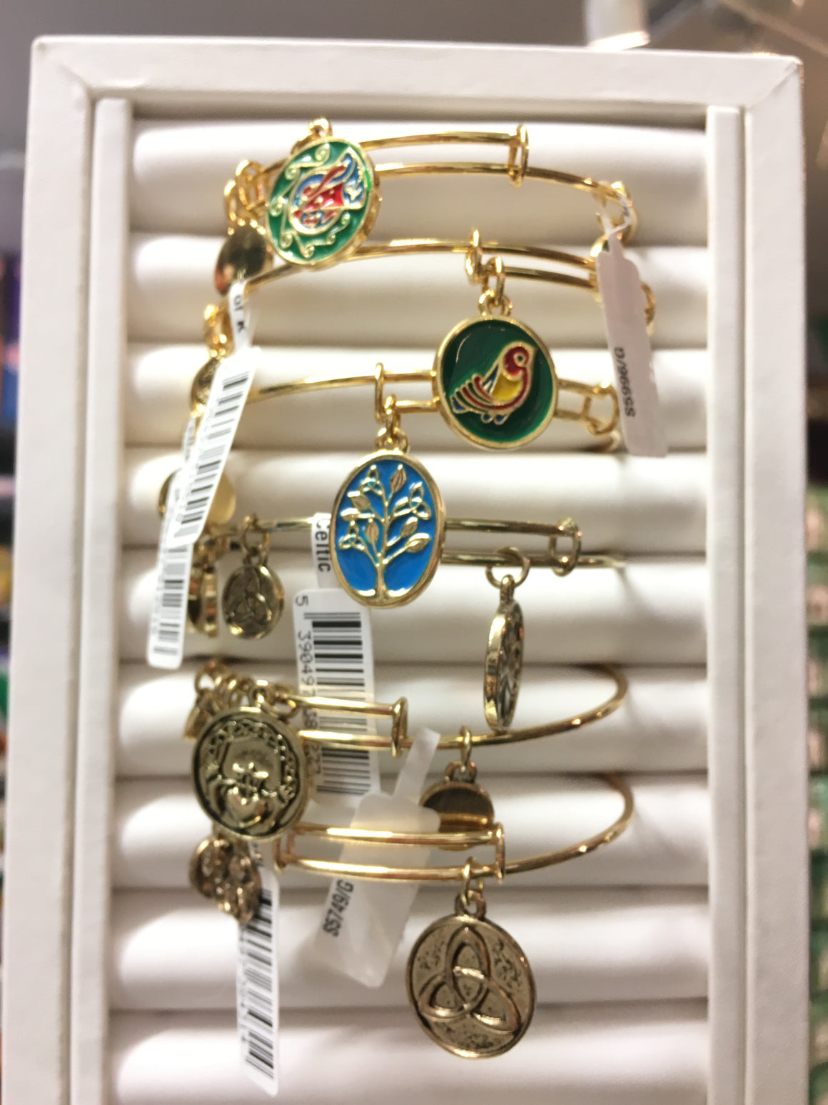 Assorted Charm Bangles - Enamel, Gold and Silver designs