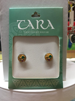 Irish Emoji Shamrock Tongue-out Earrings