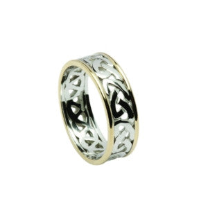 Celtic Knot Open Pattern Wedding Band 14ct White Gold