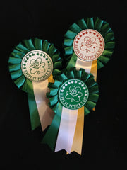 Rosette Badges - Shamrock Happy St Patricks Day