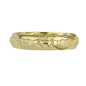 Claddagh Wedding Band Ring LADIES 14ct Yellow Gold S2305