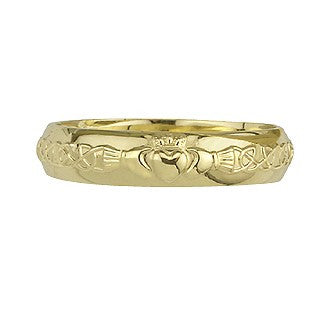 Claddagh Wedding Band Ring LADIES 9ct Yellow Gold S2305