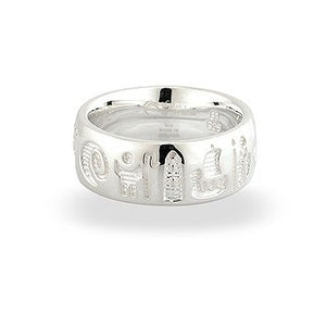 History of Ireland Ring Sterling Silver