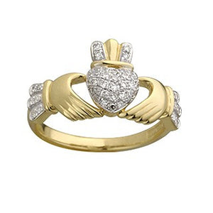 Claddagh Ring 14ct Yellow Gold Diamond S2768