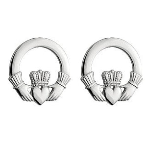 Claddagh Stud Earrings Sterling Silver S3325
