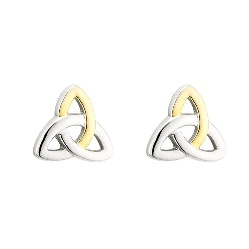 Trinity Knot two toned plated Earrings