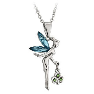Angel Pendant Rhodium Plated with Crystal Wings S44431