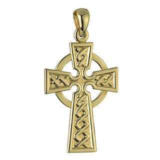 Celtic Cross Pendant 18ct Gold Plated with Chain S4895