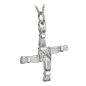 St Brigid's Cross Pendant Sterling Silver with Chain S4974